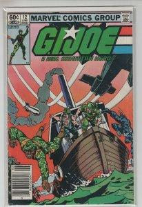GI JOE (1982 MARVEL) #12 FN+ A22495
