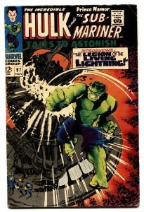 TALES TO ASTONISH #97 comic book-HULK/SUB-MARINER-1967- VG+