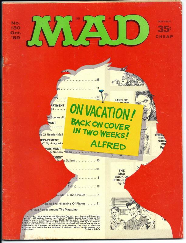 Mad No. 130,  Oct, 1969 (FN)
