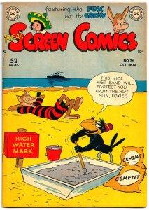 REAL SCREEN COMICS #26 (1949) 6.0 FN  *Fox & Crow,Flippity & Flop,Tito & Burrito