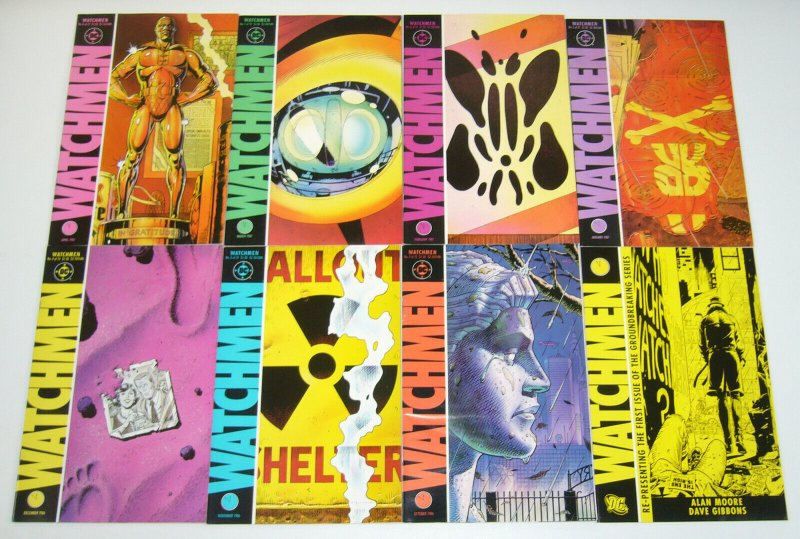 Watchmen #1-12 VF/NM complete series - alan moore - dave gibbons - dc comics set