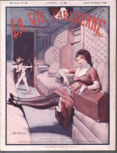 La Vie Parisienne 10/15/1921spicy early French girlie mag-Good Girl Art-VG-