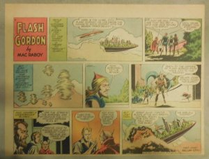 Flash Gordon Sunday Page by Mac Raboy from 10/27/1957 Half Page Size