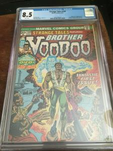 STRANGE TALES #169 -CGC 8.5 VF+ 1ST APP BROTHER VOODOO-HIGH GRADE BRONZE AGE KEY