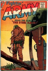 Fightin' Army #25 1958-Charlton-memorial cover-Sid Check art-FN-
