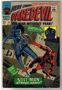 DAREDEVIL #26, VG, Gene Colan,Stilt-Man,Stan Lee, 1964, more DD in store