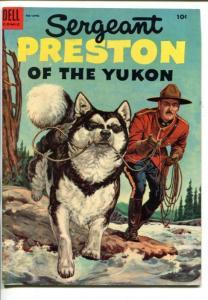 SGT PRESTON OF THE YUKON #14-1955-DELL--RCMP STORIES-RIVER RESCUE -fn