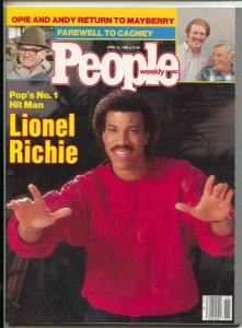 People Weekly 4/14/1986-Time-Lionel Richie cover-Andy Griffith-Ron Howard-Cag...