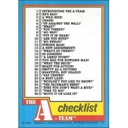 1983 Topps The A-Team CHECKLIST #66