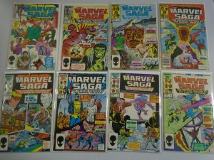 Marvel Saga set #1-25 8.5 VF+ (1985)
