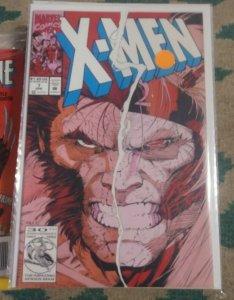 X MEN # 7 1992 marvel Jim  lee wolverine  GAMBIT ROGUE BEAST PSYLOCKE CYCLOPS