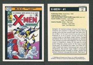 1990 Marvel Comics Card  #125 (X-Men #1 Cover) / NM-MT+