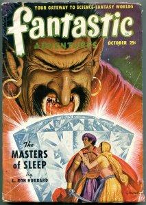 Fantastic Adventures Pulp October 1950-Masters of Sleep L Ron Hubbard