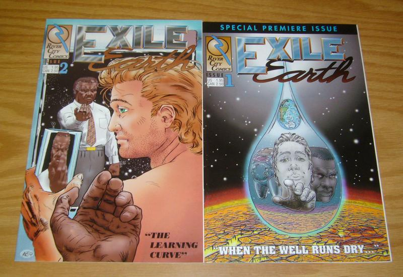 Exile Earth #1-2 VF/NM complete series - river city comics - indy sci fi set lot
