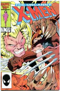 X-MEN #213, VF/NM, Wolverine vs Sabretooth, Claremont, Uncanny, more in store