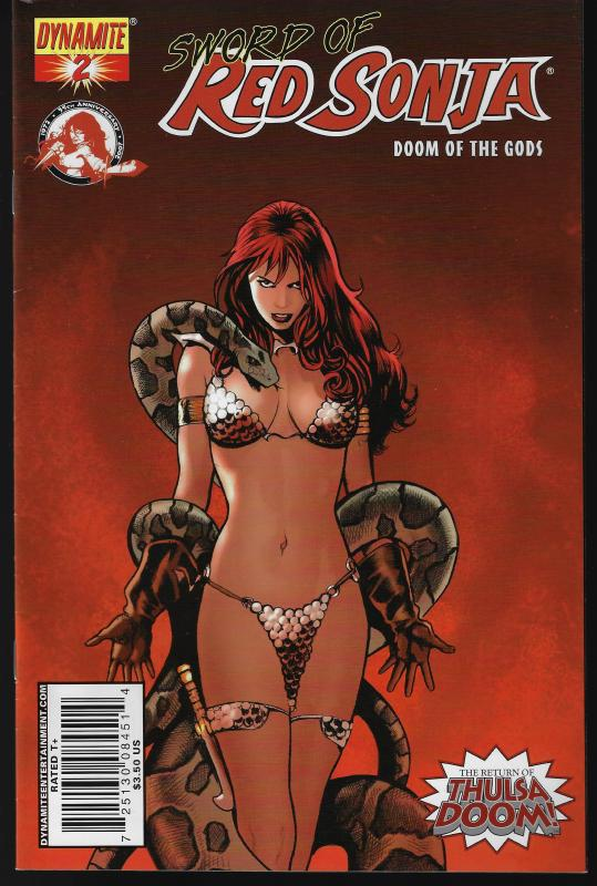 Red Sonja Doom of the Gods #2 (Dynamite) - Paul Renaud Cover
