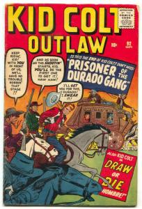 Kid Colt Outlaw #92 1960- Kirby cover- Stan Lee VG