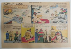 Captain Yank Sunday by Frank Tinsley from 2/28/1943 Size: 11 x 15 inches