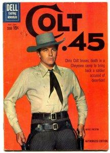 Colt .45  #7 1961- Dell TV Western comic Wayde Preston VG