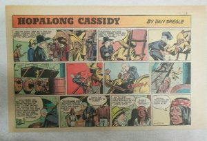 Hopalong Cassidy Sunday Page by Dan Spiegle from 7/16/1950 Size 7.5 x 10 inches