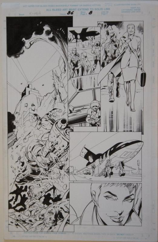 ALAN DAVIS / MARK FARMER original art, X-MEN #86 pg 8, 11x17, 1998