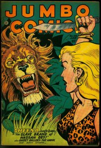 Jumbo Comics #100 1947- Sheena- Fiction House Lion attack cover VF-