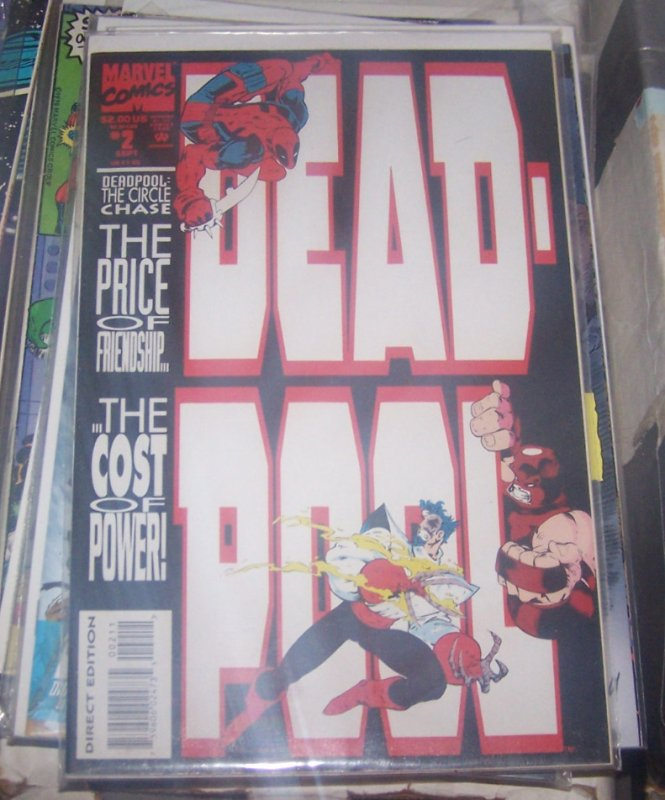 Deadpool #2 1993, Marvel juggernaut  black tom cassidy x men mutant movie