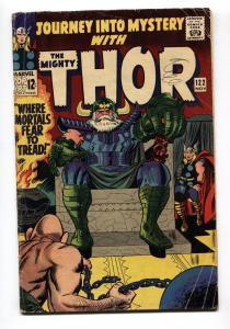 Journey into Mystery #122 1966- Thor- Jack Kirby- Odin G/VG