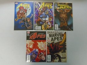 Marvel Apes Set: #0-4 8.0 VF (2008)