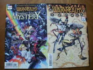 2 NEW Mint Marvel WAR OF THE REALMS Comic: Journey Into Mystery #1 & Variant #2