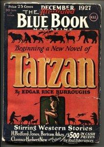 Blue Book Pulp December 1927-TARZAN LORD OF THE JUNGLE 1st-RARE