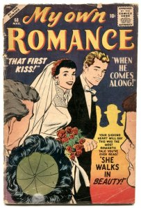 My Own Romance #68 1959- THAT FIRST KISS- WALKS IN BEAUTY