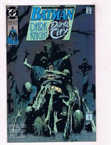Batman Dark Knight Dark City #453 VF DC Comics Comic Book JLA Aug 1990 DE44