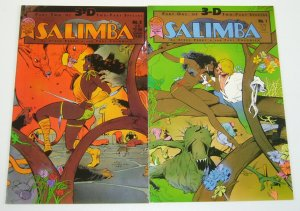 Salimba 3-D #1-2 VF/NM complete series - paul chadwick - jungle blackthorne set