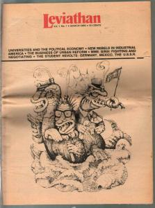 Leviathan #1 3/1969-1st issue-counter culture-Urban Reform-rare-VG