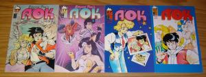 Edward Pun's A'OK #1-4 VF- complete series 1992 ANTARCTIC PRESS manga set lot