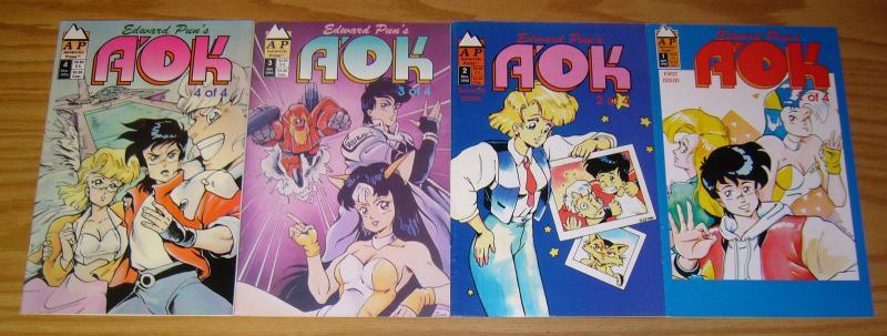 Edward Pun's A'OK #1-4 VF- complete series 1992 ANTARCTIC PRESS manga set lot