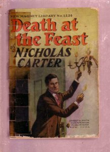 NEW MAGNET LIBRARY-#1224-DEATH AT THE FEAST-NICK CARTER FR