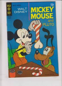 Walt Disney's Mickey Mouse #128 VF+ february 1971 - pluto - candy cane cover