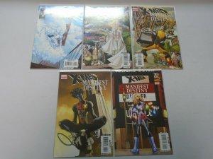 X-Men Manifest Destiny Set #1-5 8.0 VF (2008)