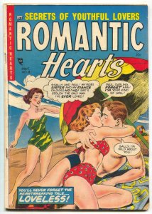 Romantic Hearts #8 1954- GGA- Spicy swimsuit cover VG+