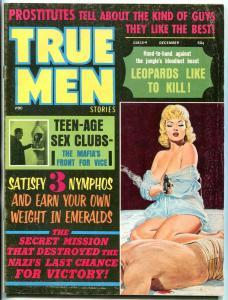 True Men Magazine December 1972-PICS OF DEATH-NAZI ROCKET SCIENTIST- VG/FN