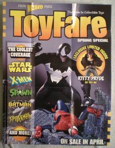TOY FARE Promo poster, Spider-man, 19x25, 1997, Unused, Venom, more in store
