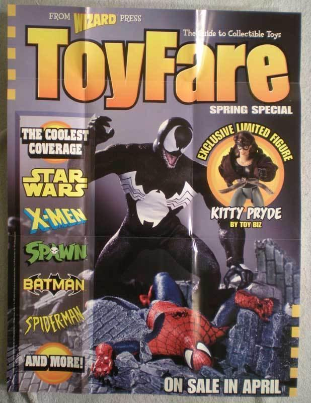 TOY FARE Promo poster, Spider-man, 19x25, 1997, Unused, Venom, more in store