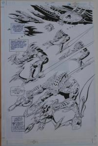 PAUL GULACY / JIMMY PALMIOTTI original art, SCI SPY #4 pg 22, Vertigo, Splash