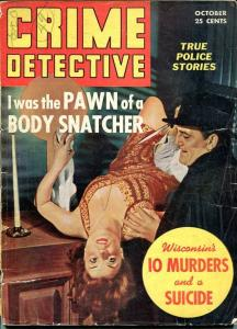 CRIME DETECTIVE-OCT 1942-G-HARD BOILED-SPICY-MURDER-RAPE-KNIFE-WIELDING G