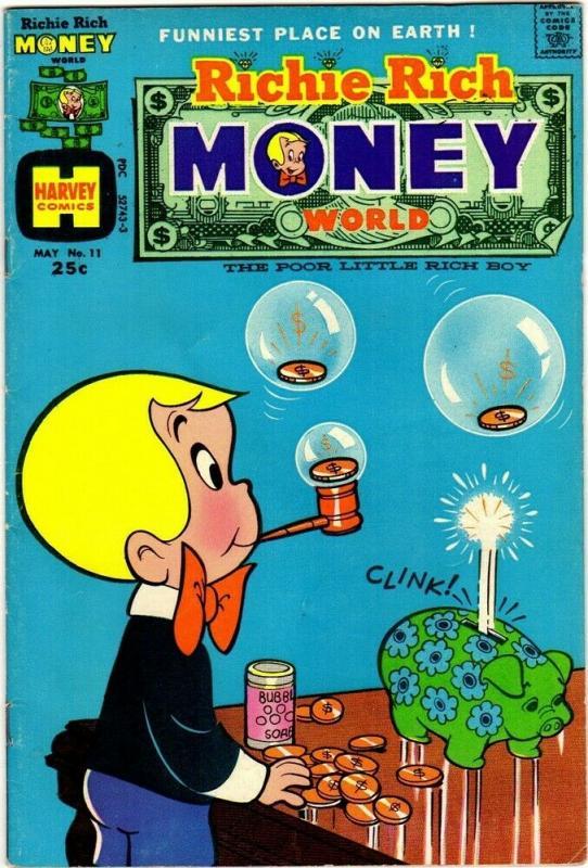 RICHIE RICH MONEY WORLD (1972-1982) 11 VG  May '74 COMICS BOOK