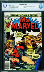 MS. MARVEL #17-cbcs 9.8 wp-First MYSTIQUE cameo-Marvel-1978