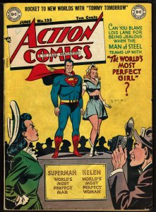 Action Comics #133 (Jun 1949, DC) - with Tommy Tomorrow, Congo Bill 3.5 VG-