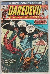 Daredevil #111 (Jun-74) FN Mid-Grade Daredevil, Black Widow